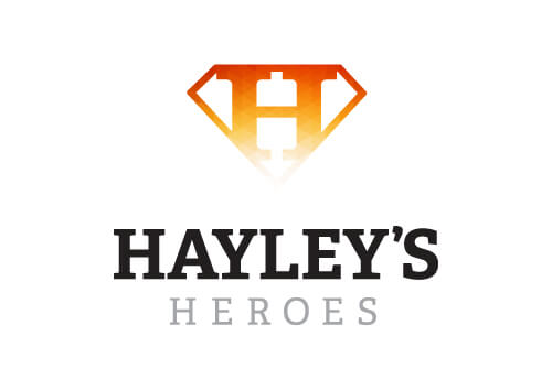 Hayleys Heroes Orange Black Logo