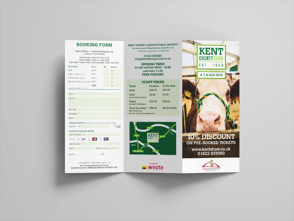 Kent County Show Postcard