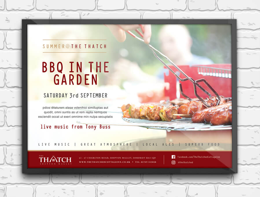 Thatch BBQ Event Poster