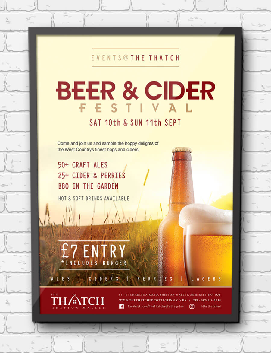 Thatch Beer Poster