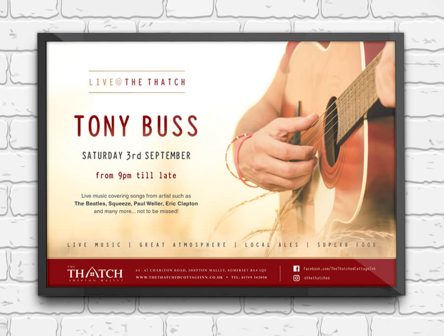 Thatch Music Event Poster